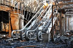 Free Fire Gutted Mall And Cinema In Bangkok Royalty Free Stock Photos - 14749948