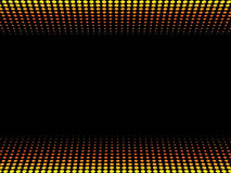 Fire halftone background. Symmetrical  fire halftone  background with black copyspace Royalty Free Stock Image