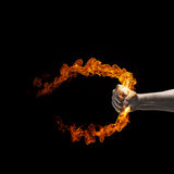 Fire in hand Royalty Free Stock Image