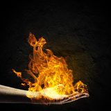 Fire in hand Royalty Free Stock Images