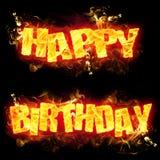 Fire Text Happy Birthday Royalty Free Stock Image