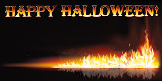 Fire happy halloween banner Royalty Free Stock Images
