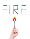 Fire hazard concept Royalty Free Stock Image