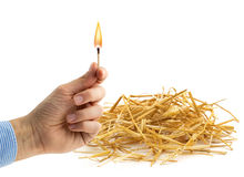 Fire hazard Royalty Free Stock Image
