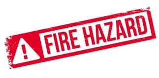 Fire Hazard rubber stamp Stock Photos