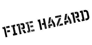 Fire Hazard rubber stamp Royalty Free Stock Photos
