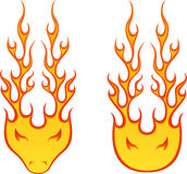 Fire Heads. Vector illustration of fire head Stock Images