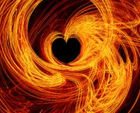Fire Heart. A wonderful fire heart. Passion and love Stock Image