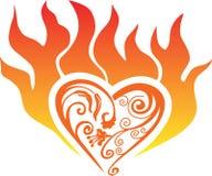 Fire heart Royalty Free Stock Photo