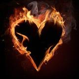 Fire heart. Royalty Free Stock Photo