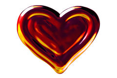 Fire heart. Flames looking, isolated. Designed in PS Royalty Free Stock Photography
