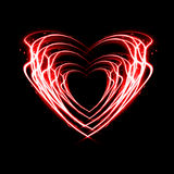 Fire heart. Royalty Free Stock Photo