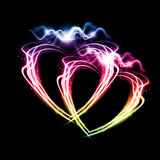 Fire heart. Heart from fire for valentines day Royalty Free Stock Photo