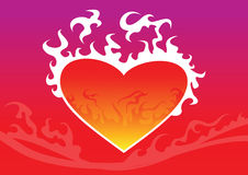 Fire heart. Vector image of fire heart Stock Image