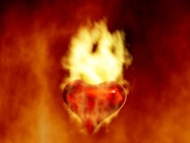 Fire heart. The heart as a symbol of fire Royalty Free Stock Photos