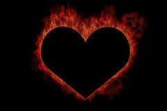 Fire heart Royalty Free Stock Photos