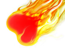 Fire Heart. Red heart burn with emotion Royalty Free Stock Photo