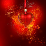 Fire Heart Bauble Royalty Free Stock Image