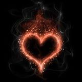 Fire heart Stock Photo
