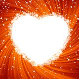 Fire heart frame. EPS 8 Royalty Free Stock Photography