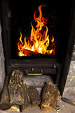 Fire in the hearth Royalty Free Stock Images
