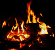 Fire and heat flame. A fire flame as background Stock Photos