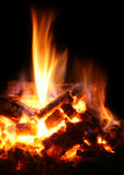 Fire and heat flame. A fire flame as background Royalty Free Stock Photos