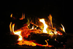 Fire. The heat from the fire warms and soothes, fascinates and ignites Royalty Free Stock Photos