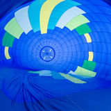 Fire heats the air inside a hot air balloon at balloon festival royalty free stock images