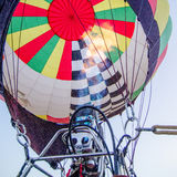 Fire Heats The Air Inside A Hot Ai R Balloon At Balloon Festival Royalty Free Stock Image