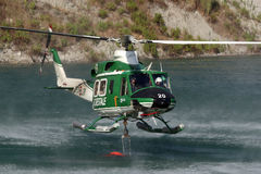 Fire helicopter Stock Images