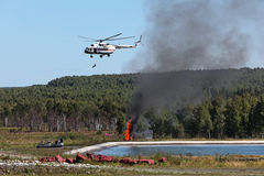 Fire helicopter Royalty Free Stock Photos