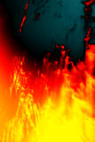 Fire hell. An illustration of a hot fire hell Royalty Free Stock Photography