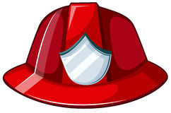 Fire helmet. Illustration of a fire helmet on a white background Stock Image