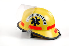 Fire Helmut. Firefighter helmet isolated on a white background Stock Photography