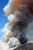 Fire in the hills. Towering smoke from a fire in the Hollywood Hills Stock Images