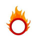 Fire Hoop. Fire, hoop, circus icon vector image. Can also be used for circus. Suitable for mobile apps, web apps and print media Royalty Free Stock Photos