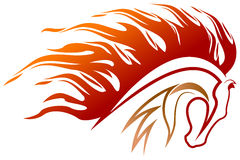 Fire horse. Isolated illustrated fire horse logo design Stock Photography