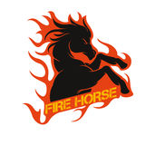 Fire horse. Stock logo,sticker & vector on your company Royalty Free Stock Photography