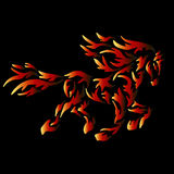 Fire horse tattoo Royalty Free Stock Image
