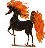 Fire horse. Vector graphics Fire horse isolated on the wight background Stock Photo