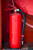 Fire-hose. In the red box Stock Images