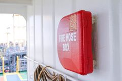 Fire hose box Royalty Free Stock Photo