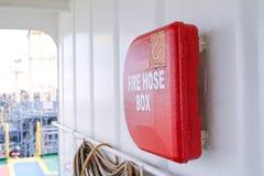 Fire hose box Royalty Free Stock Photo
