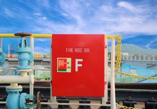 Fire hose box Stock Images