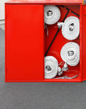 Fire hose box Stock Photo