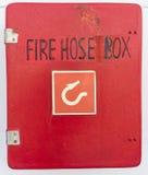 Fire hose box Stock Photos