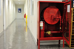 Fire hose cabinet Stock Photography