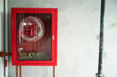 Fire hose cabinet. Royalty Free Stock Image