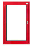 Fire hose cabinet frame isolated Stock Image
